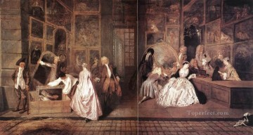Lenseigne de Gersaint Jean Antoine Watteau Oil Paintings